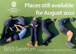 Places available at BISS Sentrum for Aug 2021