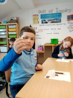 A science experiment using chocolate!